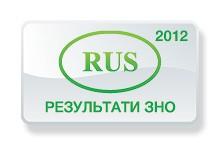 Російська мова. Результати ЗНО 2012 року