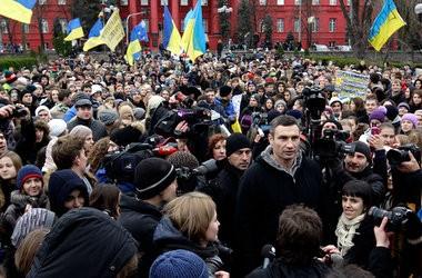 Перелякана влада не пускає студентів на Євромайдан, - Кличко