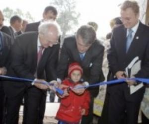 Ющенко відкрив новий дитячий садок на Київщині