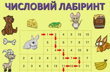 Числові лабіринти: вивчаємо цифри та числа від 1 до 20