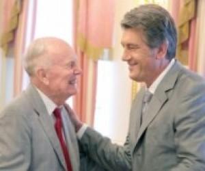 Віктор Ющенко зустрівся з президентом НАНУ Борисом Патоном